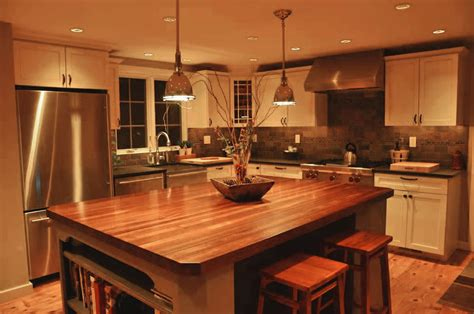 Custom Mahogany Wood Kitchen Countertop In Blue Bell, Pa