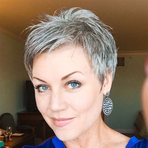 Pixie Hairstyles For Grey Hair by Pin By On Hair Styles In 2019 Hair Styles
