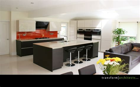 open plan kitchen design totally transformed transform architects house 3745