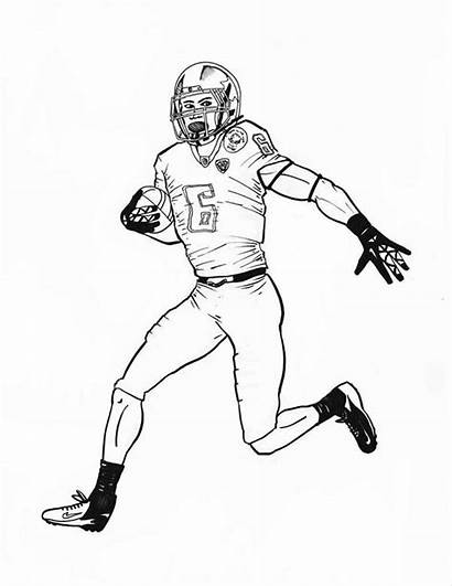 Coloring Nfl Football Pages Player Printable Players