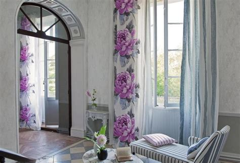 Spring Flower Wall Beautiful Curtains For Living Room