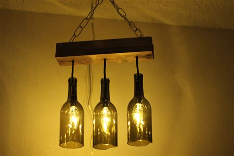 Making A Wine Bottle Chandelier