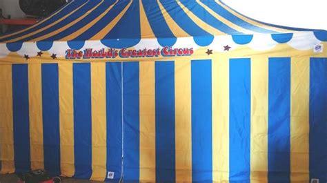 circus themed canopy tent 10x20 sandiegokidspartyrentals