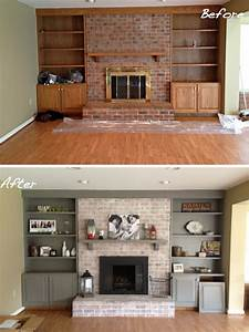 before after 15 fireplace surrounds made over page 2 With kitchen colors with white cabinets with vintage fire truck wall art