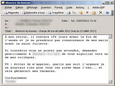 exemple message absence bureau vos mails d 39 absence révèlent quel employé vous êtes