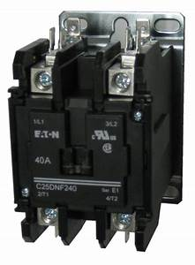 Eaton    Cutler Hammer C25dnf240 2 Pole Contactor Rated At 40 Amps
