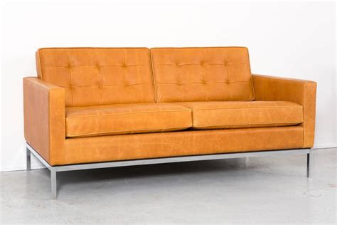 leather settee for sale florence knoll leather settee for sale at 1stdibs