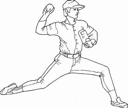Coloring Baseball Player Pitcher Printable Mlb Chicago