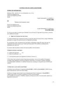 Modele Contrat Location Meublé Gratuit by Mod 232 Le Contrat Location Saisonni 232 Re Vacances