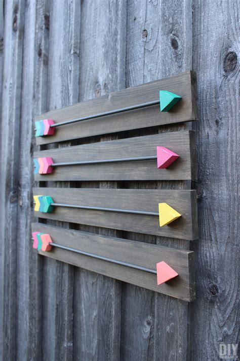 arrow wall decor diy wood arrows wall art