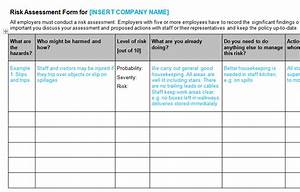 health safety bizorb With formal risk assessment template