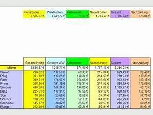 Excel Tabelle Summe Berechnen : mietnebenkosten 1 0 kostenlos downloaden ~ Themetempest.com Abrechnung