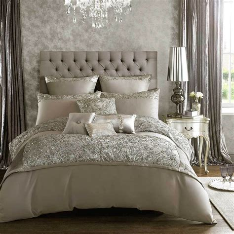 kylie minogue alexa soft silver bed linen bedding range