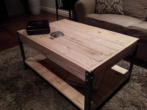 Industrial Pallet Coffee Table Ideas  Pallets Designs