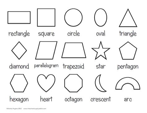 4 Best Images Of Basic Shapes Outline Printable Basic