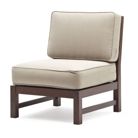Strathwood Outdoor Furniture Company by Strathwood Garden Furniture Sectional Armless