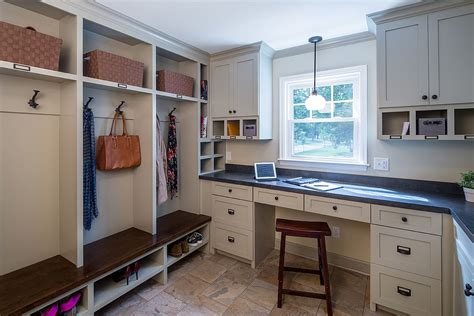 Kitchen Office Combo by 10 Versatile Mudrooms That As Home Workspaces