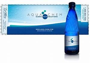 aqua chem water bottle label cmoco With bottle label design software