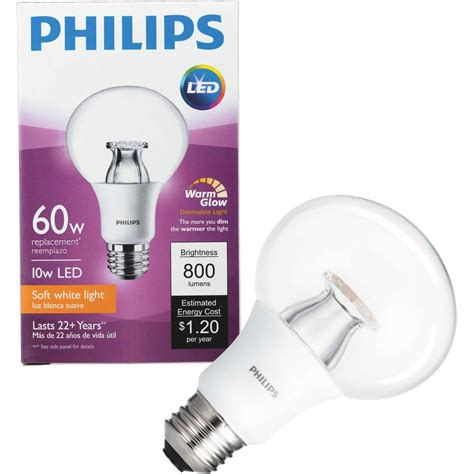 philips led dimmable light bulb g25 soft white with warm