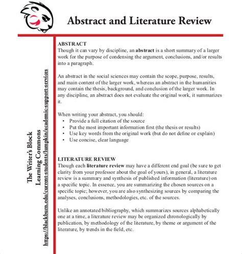 literature review outline templates samples  premium templates