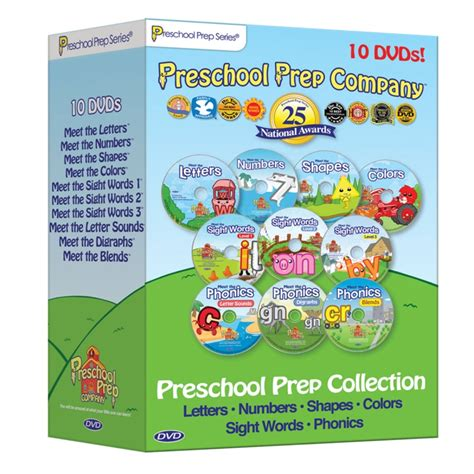 preschool prep collection 10 dvd pack best educational 343 | preschool%20prep%2010%20dvd%20pack