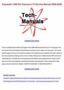 Kawasaki 1400 Gtr Concours 14 Service Manual By John