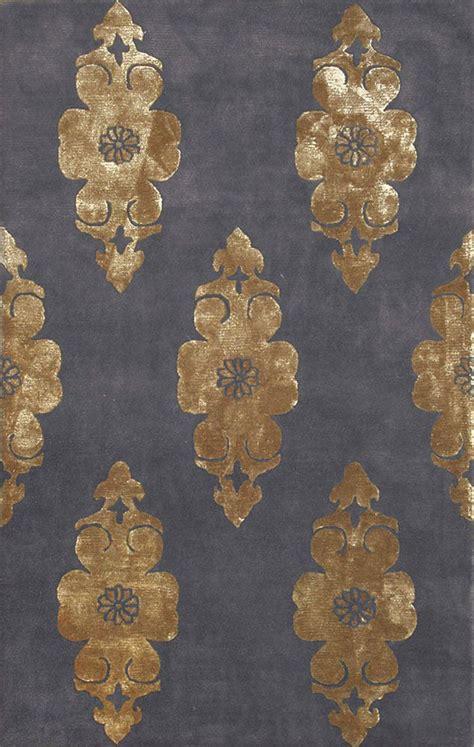 compass charcoal gold rug   bauhaus minimal design