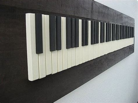 hand crafted repurposed piano key wall art  pianobox