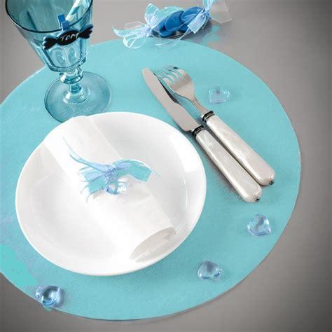 set de table papier rond set de table intisse turquoise
