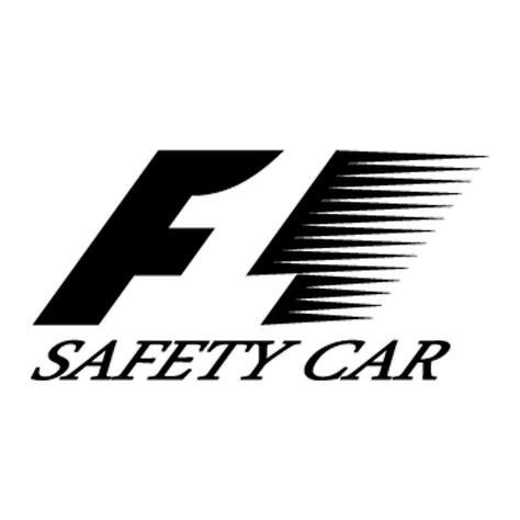 formule 1 f1 logo decal safety car