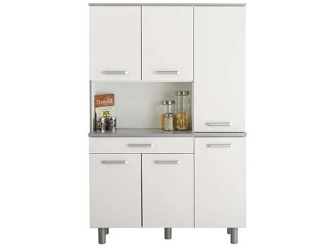 buffet opale coloris blanc conforama pickture