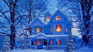 Christmas Holiday Winter Snow House Wallpaper 11588