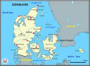デンマーク:デンマーク地図 Map of DENMARK