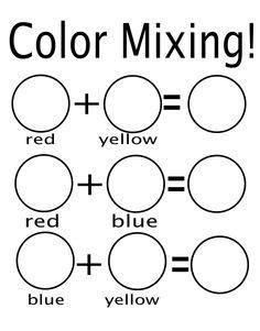 rainbow colors primary and secondary colors mixing 833   97447cd2ec00f07f50fc4950601369d8 preschool colors preschool color mixing