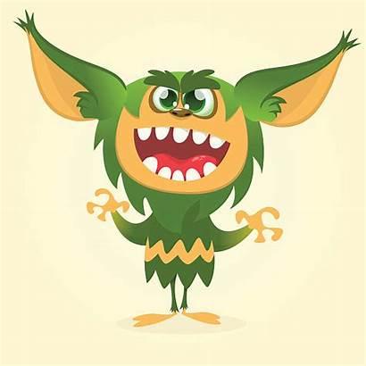 Goblin Vector Cartoon Illustrations Monster Gremlin Clip