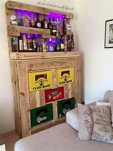 Bar Aus Holzpaletten : diy bar mit getr nkekisten m bel bastelei in 2019 ~ A.2002-acura-tl-radio.info Haus und Dekorationen