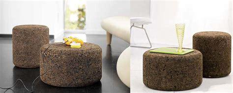 solid cork tables stools  designer jasper morrison