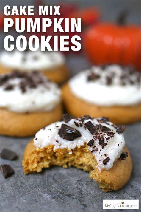 pumpkin cookies easy cake mix cookies recipe