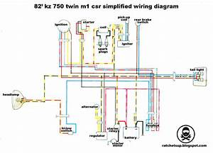 Simplified  Minimal Kz750 Csr Wiring Diagram  - Kzrider Forum
