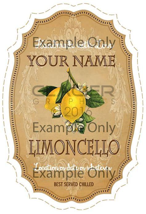 blank limoncello bottle label vintage limoncello tags  add