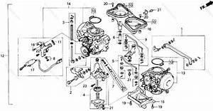 Honda Motorcycle 1988 Oem Parts Diagram For Carburetor