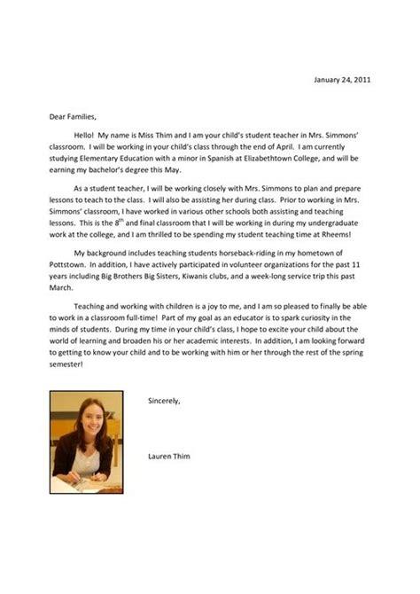 student teacher introduction letter images