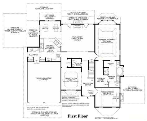 floor plans princeton lenah mill the carolinas luxury new homes in aldie va