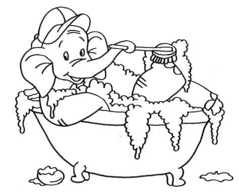 fare l nella vasca da bagno elefante fa il bagno nella vasca disegno da colorare