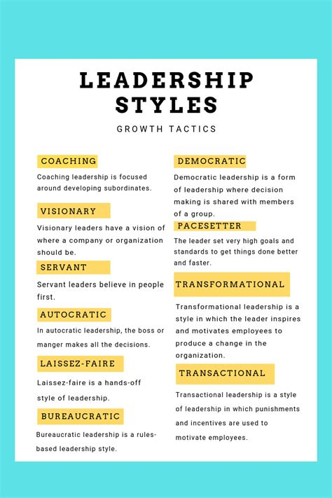 common leadership styles