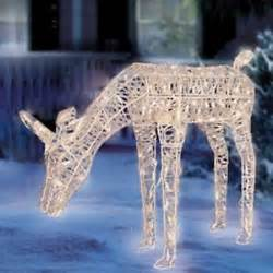 42 034 christmas lighted crystal animated feeding deer yard decoration outdoor new ebay