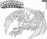 Skylanders Sunburn Coloring Skylander Dragon Colorear Draak Kleurplaten Pintar Disegni Kleurplaat Colorare Dibujos Eruptor Drac Drago Alado Fuego Printable sketch template
