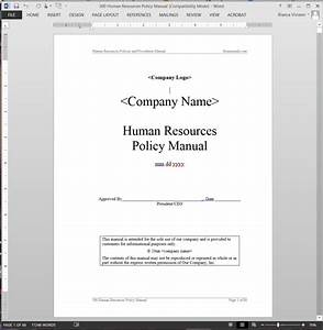 human resources policy manual abr41mpm With hr sop template