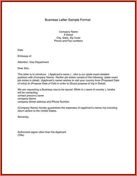 sle business letter format letters free sle letters