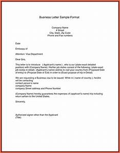 sample business letter format letters free sample letters With letter format template